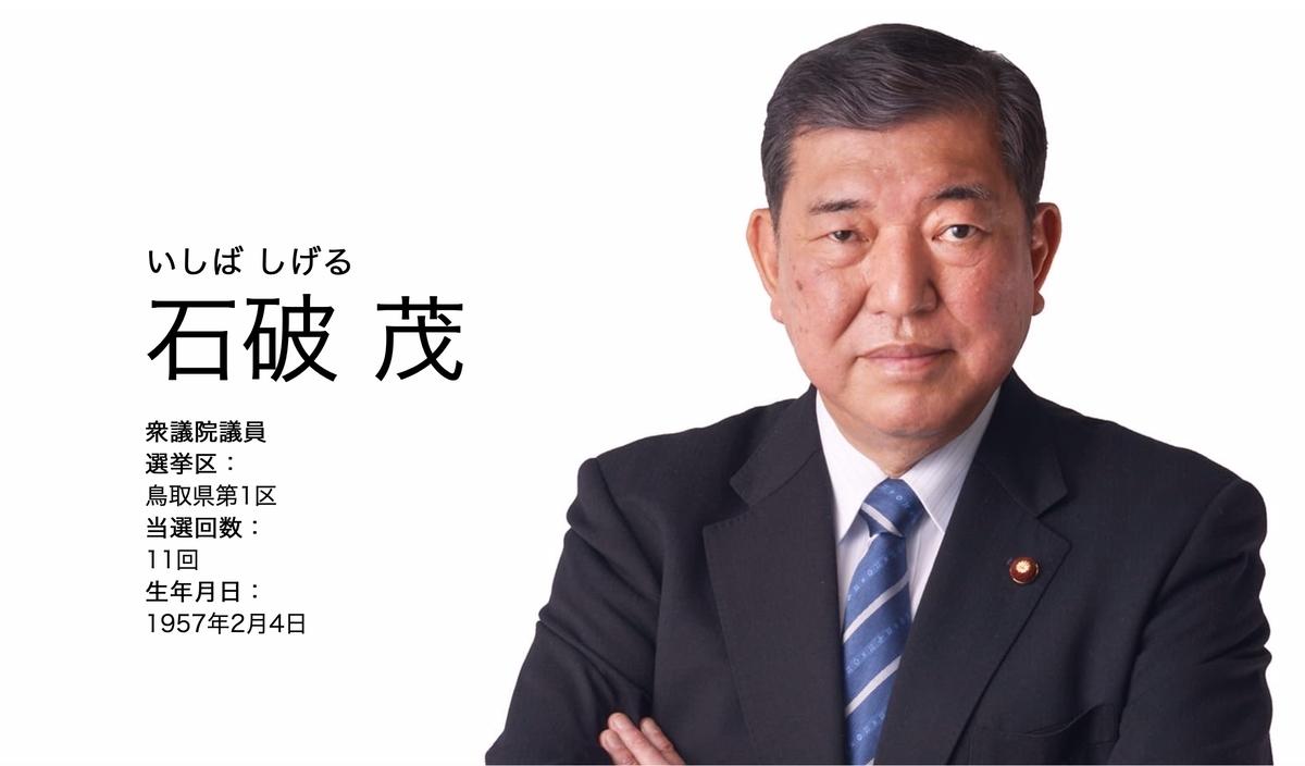 総選挙2020 石破氏