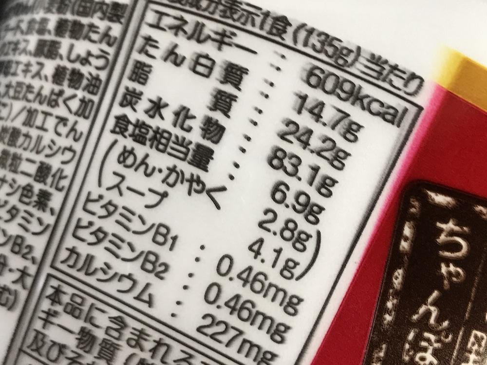 サンポー井手ちゃんぽん リニューアル版 食塩相当量