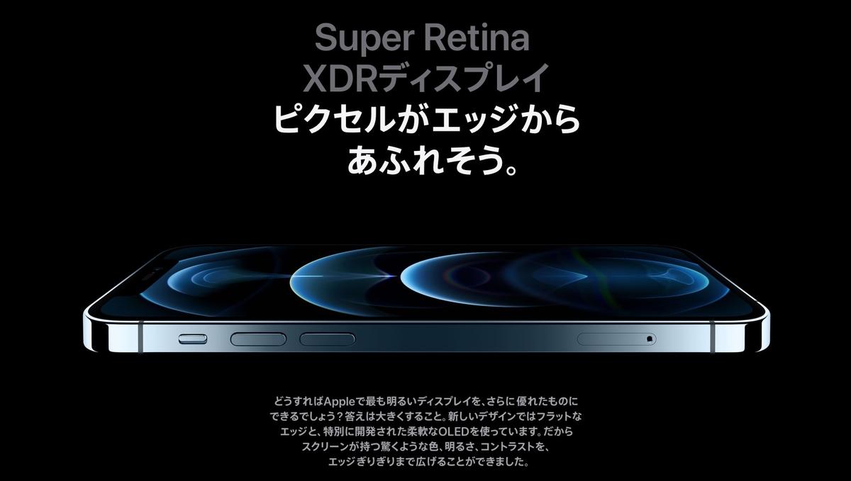 iPhone12 Pro MaxSuper RetinaXDRディスプレイ