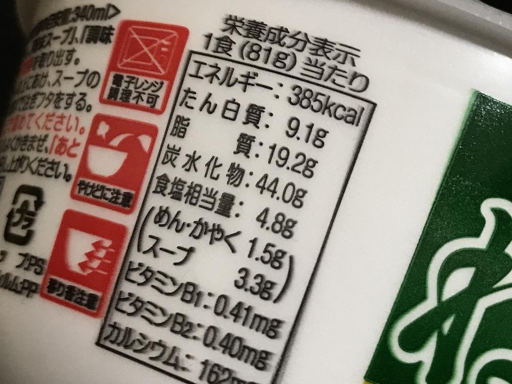 祭盛 ねぎ博多豚骨ラーメン 食塩相当量