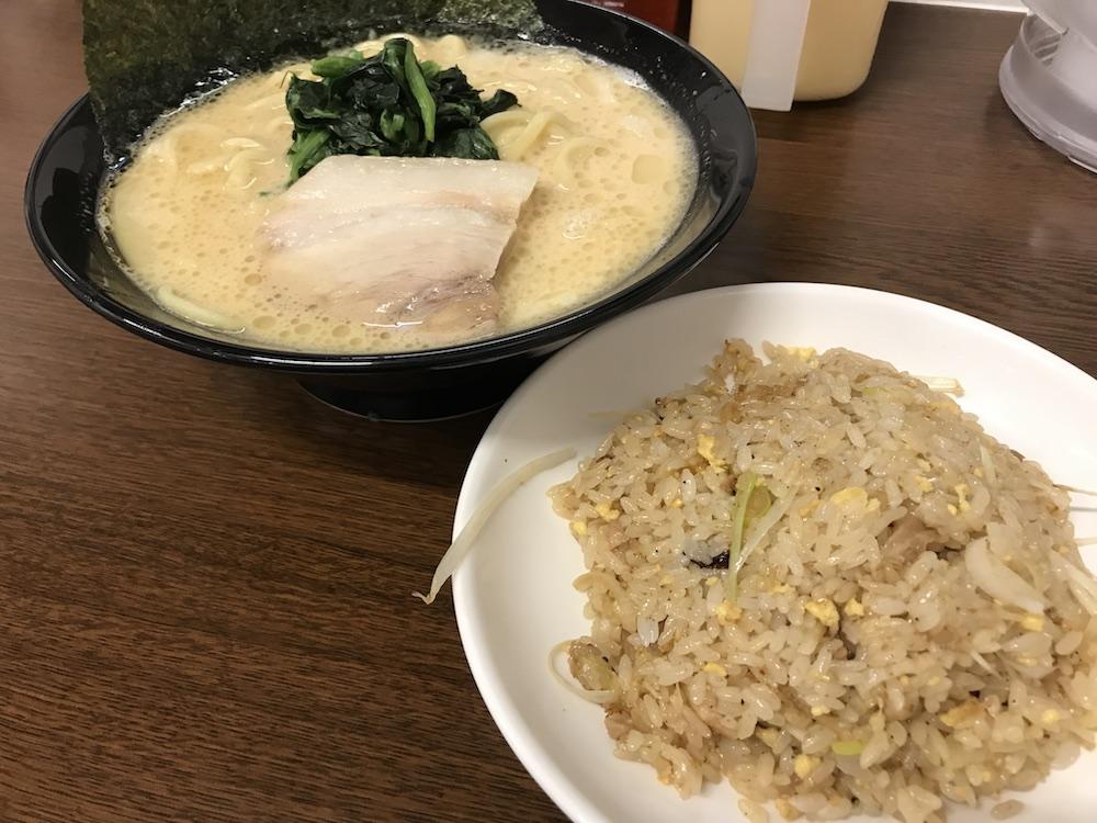 横浜家系ラーメン龍馬家大財店 チャーハンセット