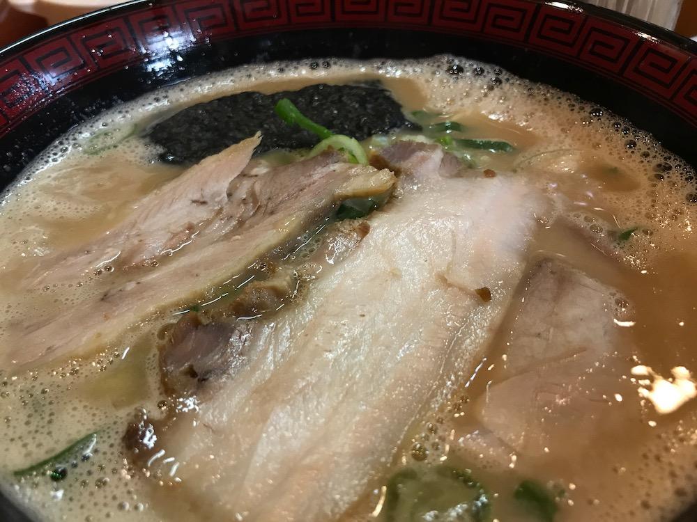 長浜ラーメン三吉 ラーメン 丼変更