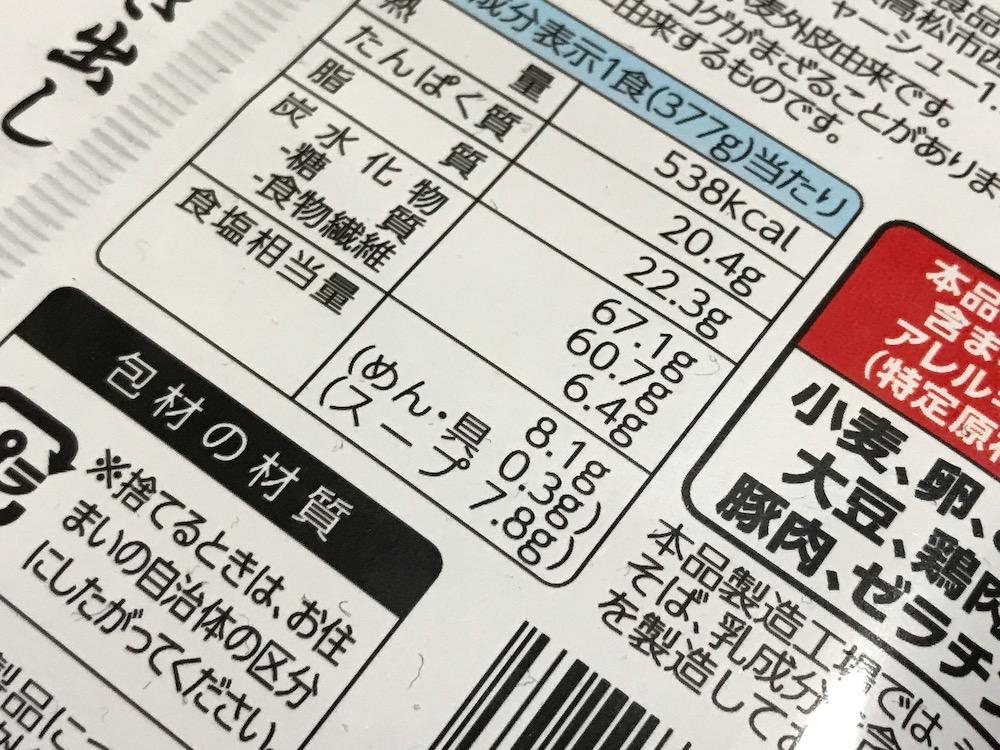 冷凍 無鉄砲 豚そば 食塩相当量