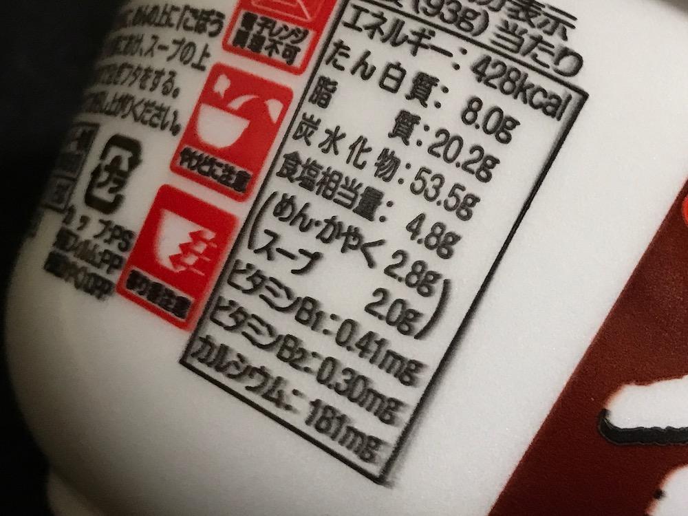 サンポーごぼう天うどん 食塩相当量 4.8