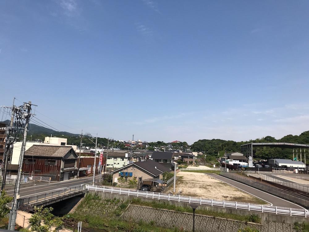 多久駅から見える風景