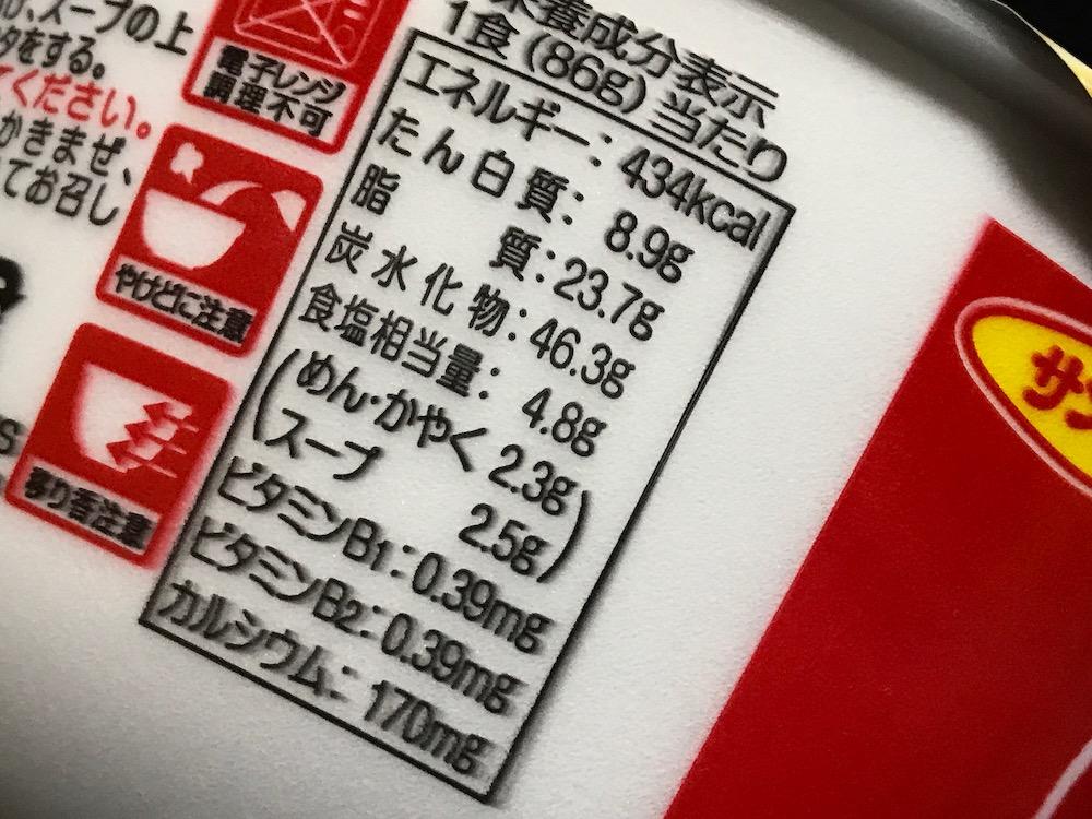 サンポー九州豚骨ピリ辛ねぎラーメン 食塩相当量