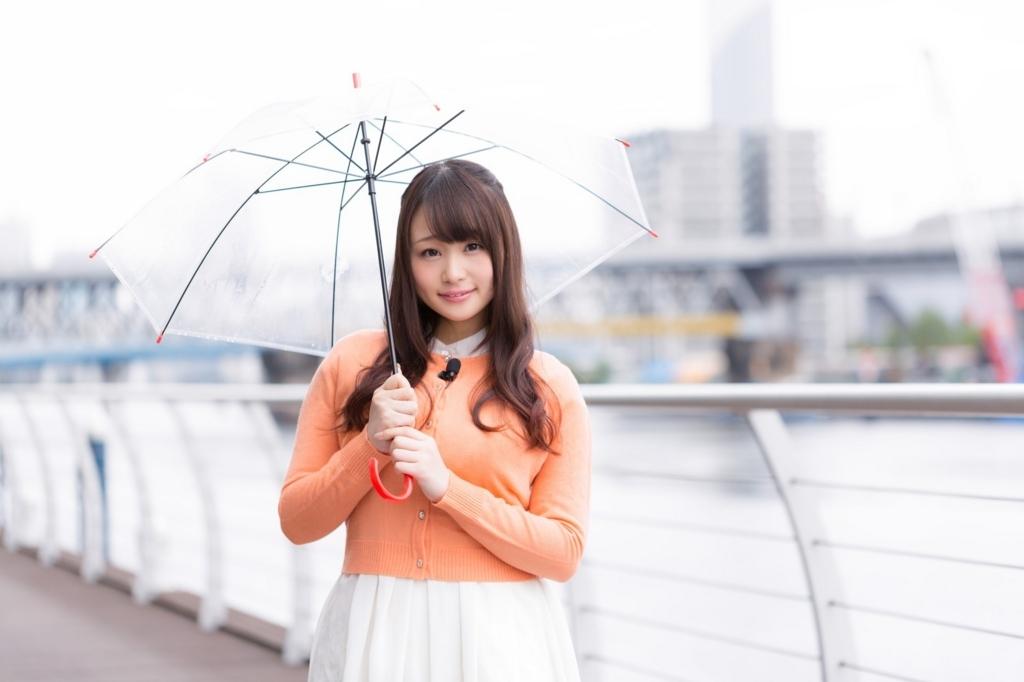傘さしたかわいい子