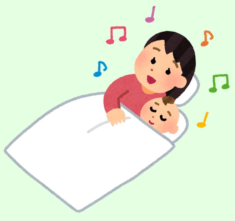 子守唄を歌う母親
