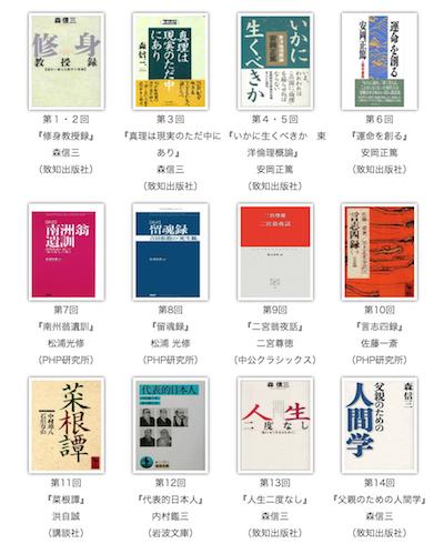 人間塾読書会の課題図書