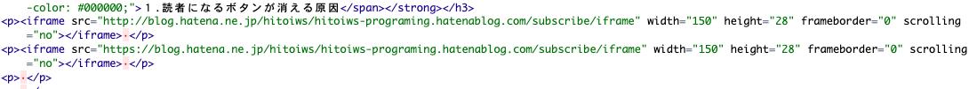 はてなブログ 読者になるボタン HTML編集