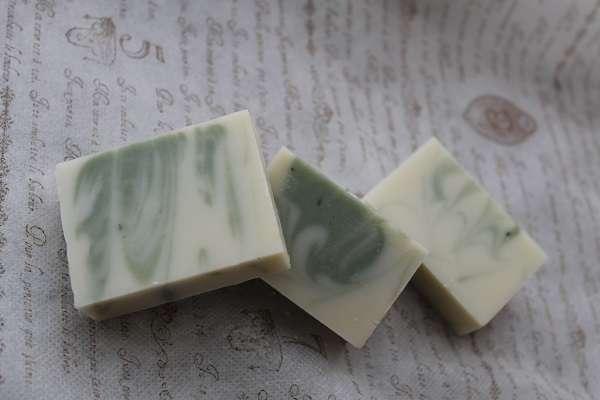 201607グリーンクレイのドロップスワール石けん(Green Clay Drop Swirl Soap)