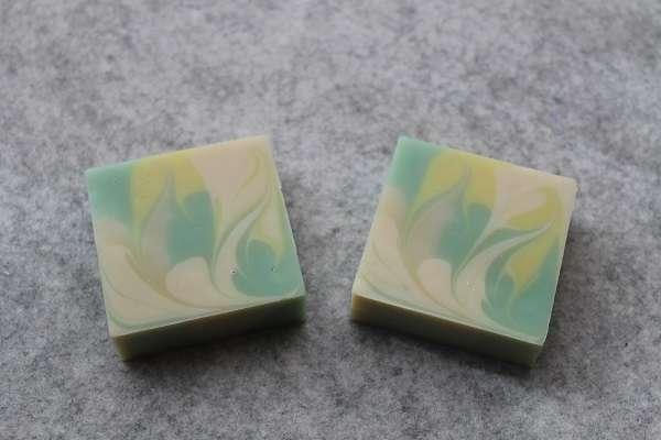 201612109色スワール石けん(4 Color Swirl Soap)