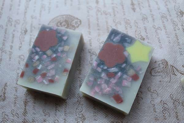 20170331花吹雪石けん(Embedded Soap Confetti Soap)