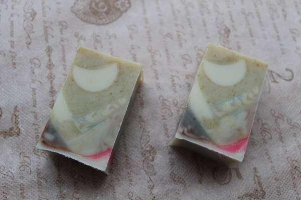 20170610白いお月さまの石けん(Embedded Soap Layered soap)