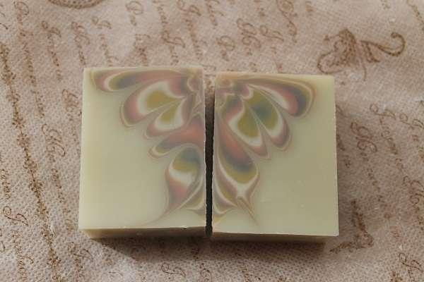 20170902バタフライスワール石けん(Butterfly Swirl Soap)