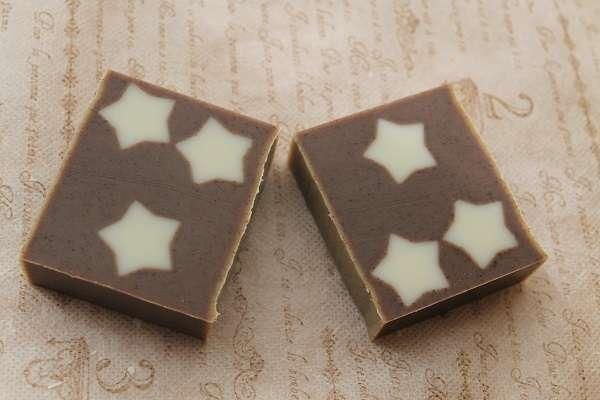 201709073つのお星さま石けん(3 Star Soap Embedded Soap)