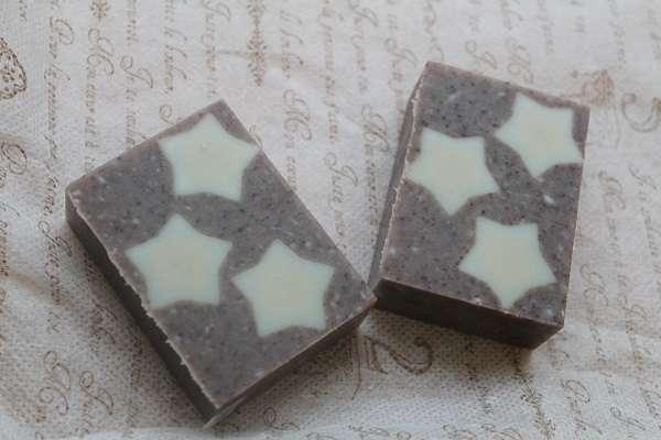 201710203つの星模様の石けん(3 Star Soap Embedded Soap)