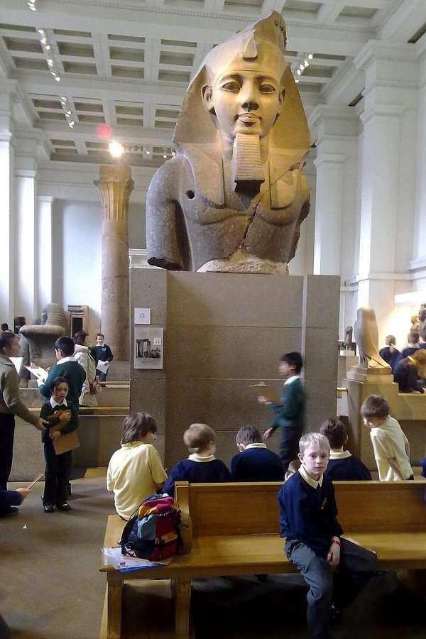 British Museum ラムセス2世の胸像 The colosal bust of Ramesses II