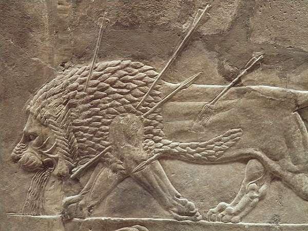 British Museum アッリシアのライオンのレリーフ The Royal lion hunt reliefs1