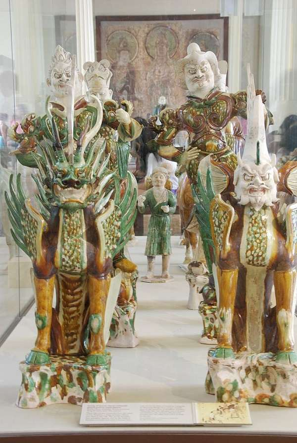 British Museum 唐三彩の副葬品 Chinese Tang tomb figures
