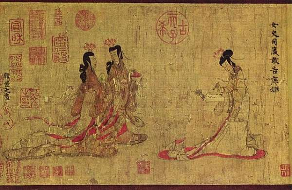 British Museum 顧 愷之「女史箴図」Gu Kaizhi Admonitions of the Instructress to the Court Ladies