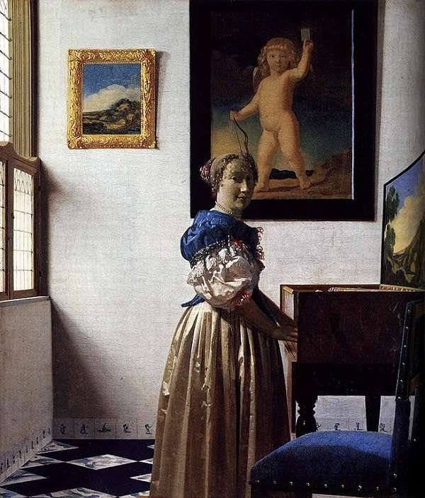 The National Gallery Young Woman standing at a Virginal Johannes Vermeer