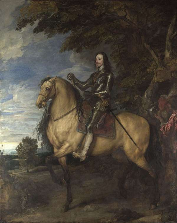 The National Gallery Equestrian Portrait of Charles I Anthony van Dyck