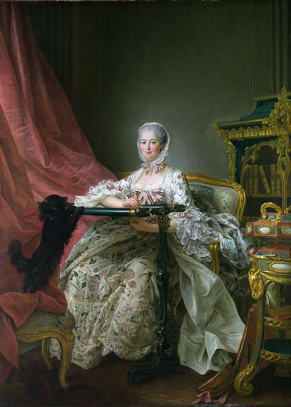The National Gallery Madame de Pompadour at her Tambour Frame  François-Hubert Drouais