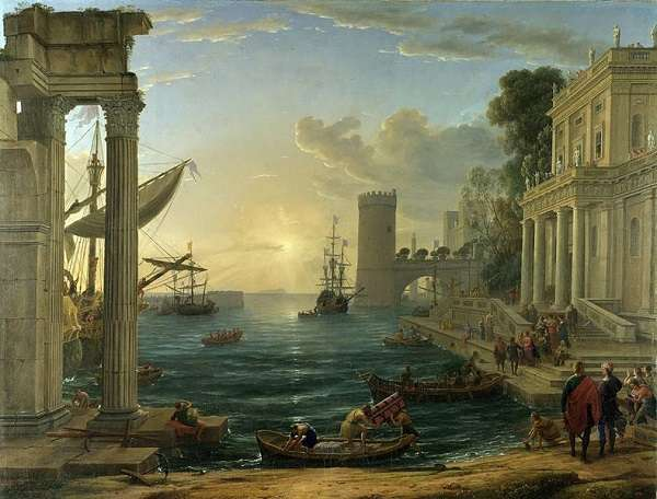 The National Gallery Seaport with the Embarkation of the Queen of Sheba Claude Lorrain