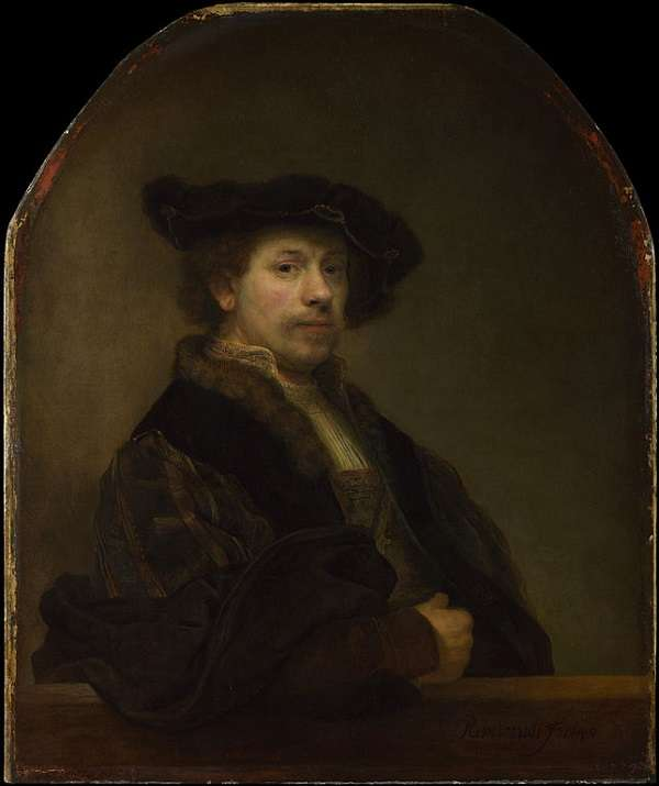 The National Gallery Self Portrait at the Age of 34  Rembrandt Harmenszoon van Rijn Rembrandt