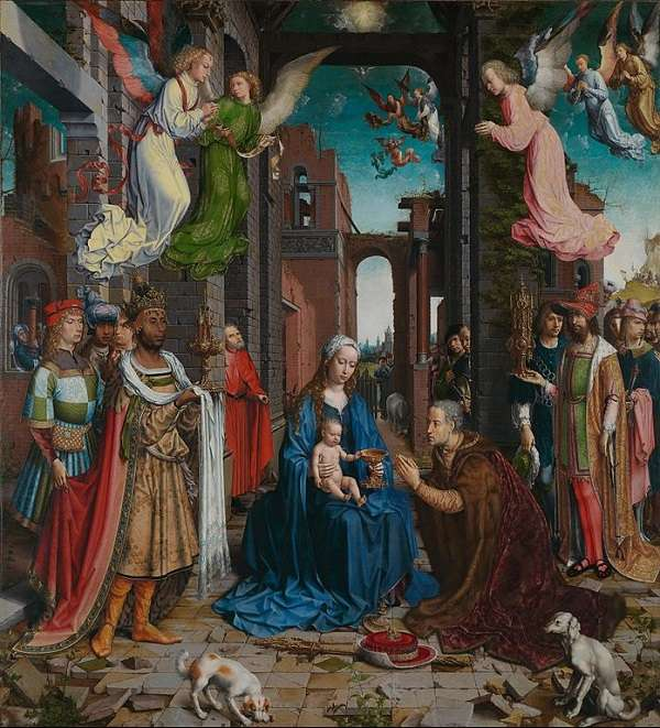 The National Gallery The Adoration of the Kings  Jan Gossaert (Jean Gossart)