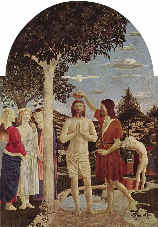 The National Gallery The Baptism of Christ  Piero della Francescaafter