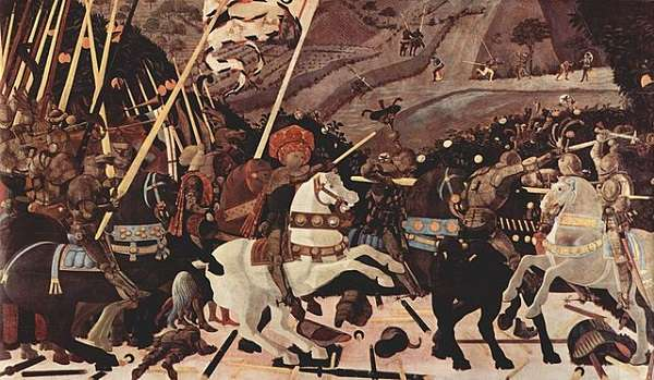 The National Gallery The Battle of San Romano  Paolo Uccelloprobably
