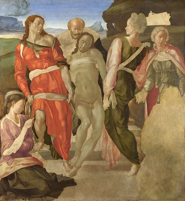 The National Gallery The Entombment (or Christ being carried to his Tomb) Michelangelo di Lodovico Buonarroti