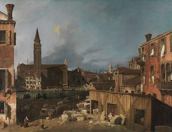 The National Gallery The Stonemason's Yard  Canalett