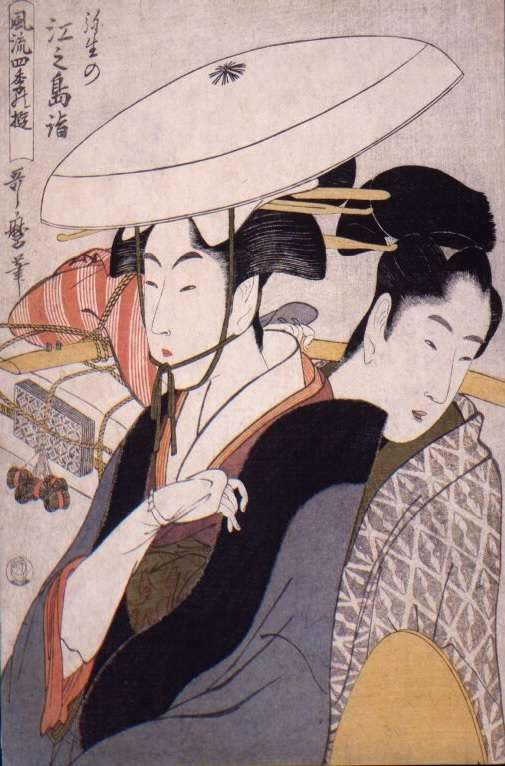 風流四季の遊弥生の江之島詣 喜多川歌麿