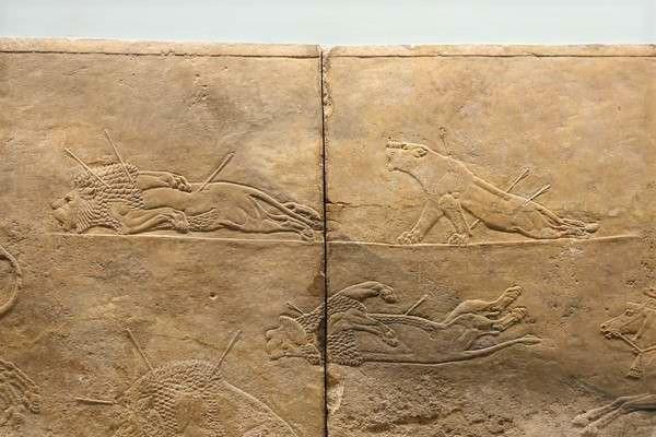 ritish Museum アッリシアのライオンのレリーフ The Royal lion hunt reliefs7