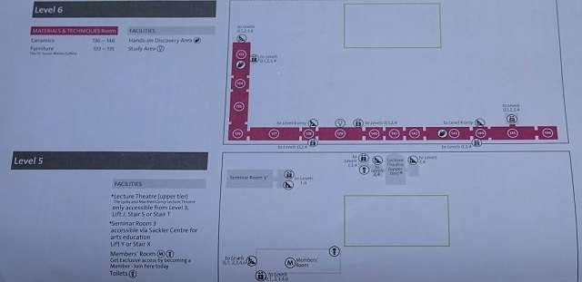 Victoria and Albert Museum floor map level5・6