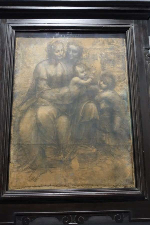 The National Gallery The Virgin and Child with St Anne and St John the Baptist  Leonardo da Vinci