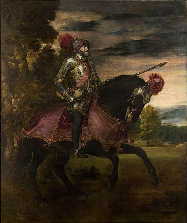 Equestrian Portrait of Charles V Tiziano Vecellio
