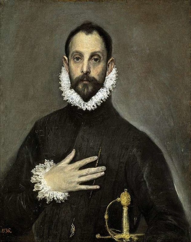 The Nobleman with his Hand on his Chest El Greco