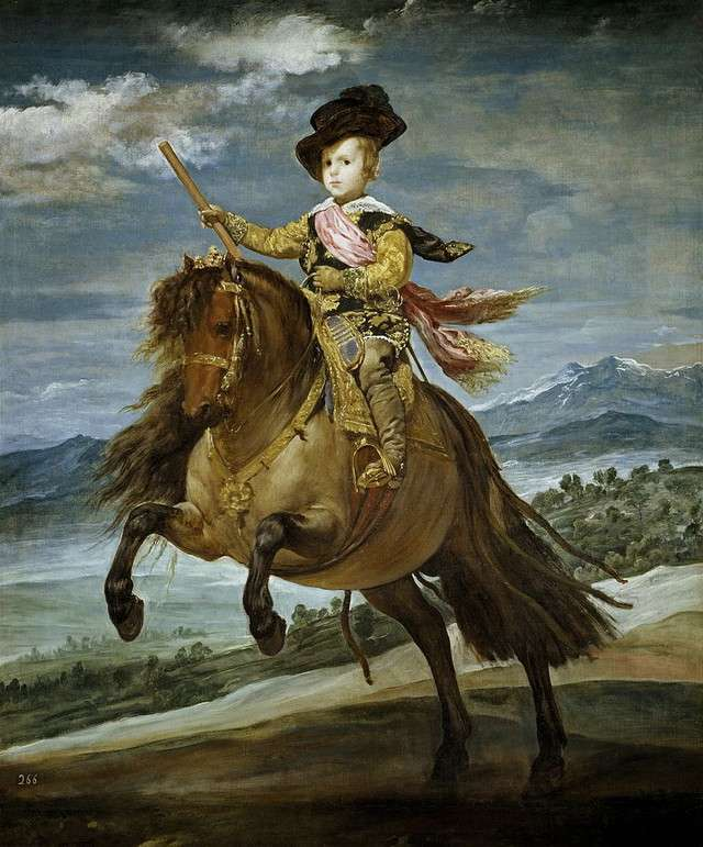 Equestrian Portrait of Prince Balthasar Charles-Diego Velázquez