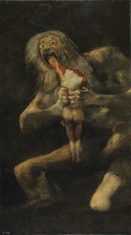 Crono Devouring His Sonfjcni-Francisco de Goya