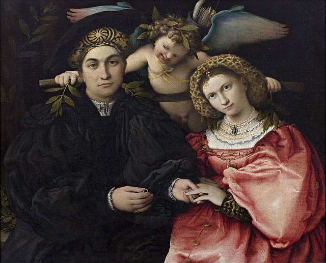 Marsilio Cassotti and His Bride Faustina Lorenzo Lotto