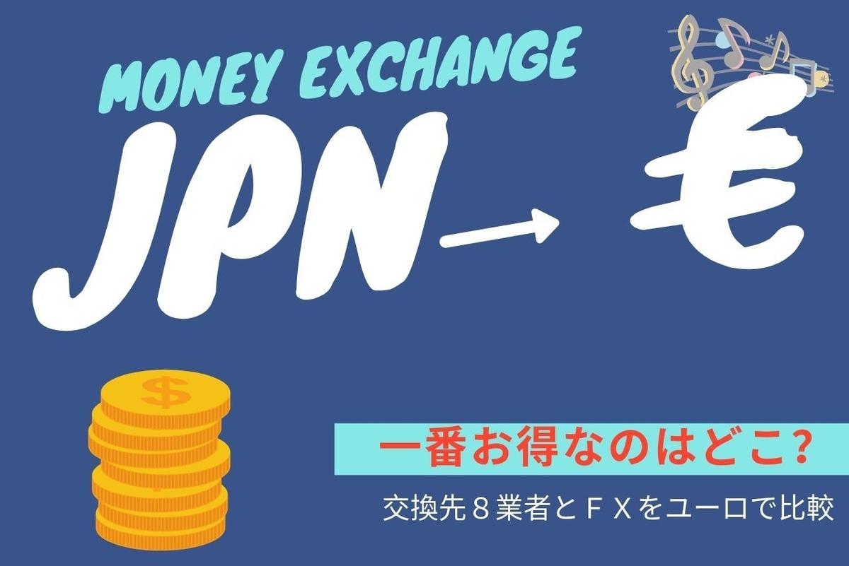 円からユーロへ両替