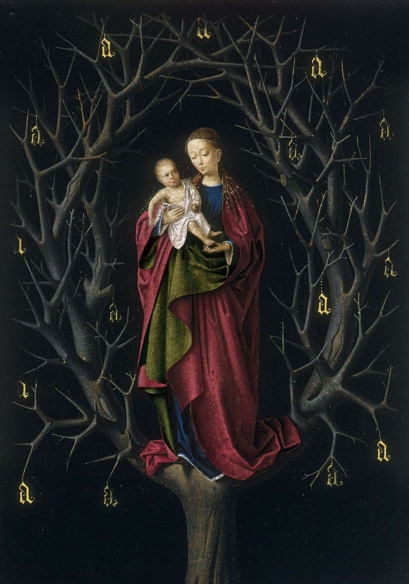 Museo de Arte Thyssen-Bornemisza Madonna of the Dry Tree circa 1460