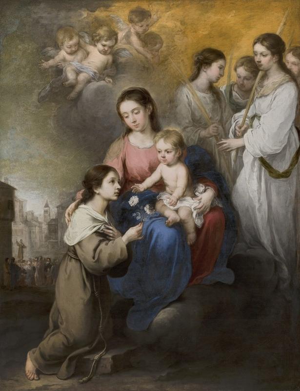 Museo de Arte Thyssen-Bornemisza The Virgin and Child with Saint Rose of Viterbo 1670