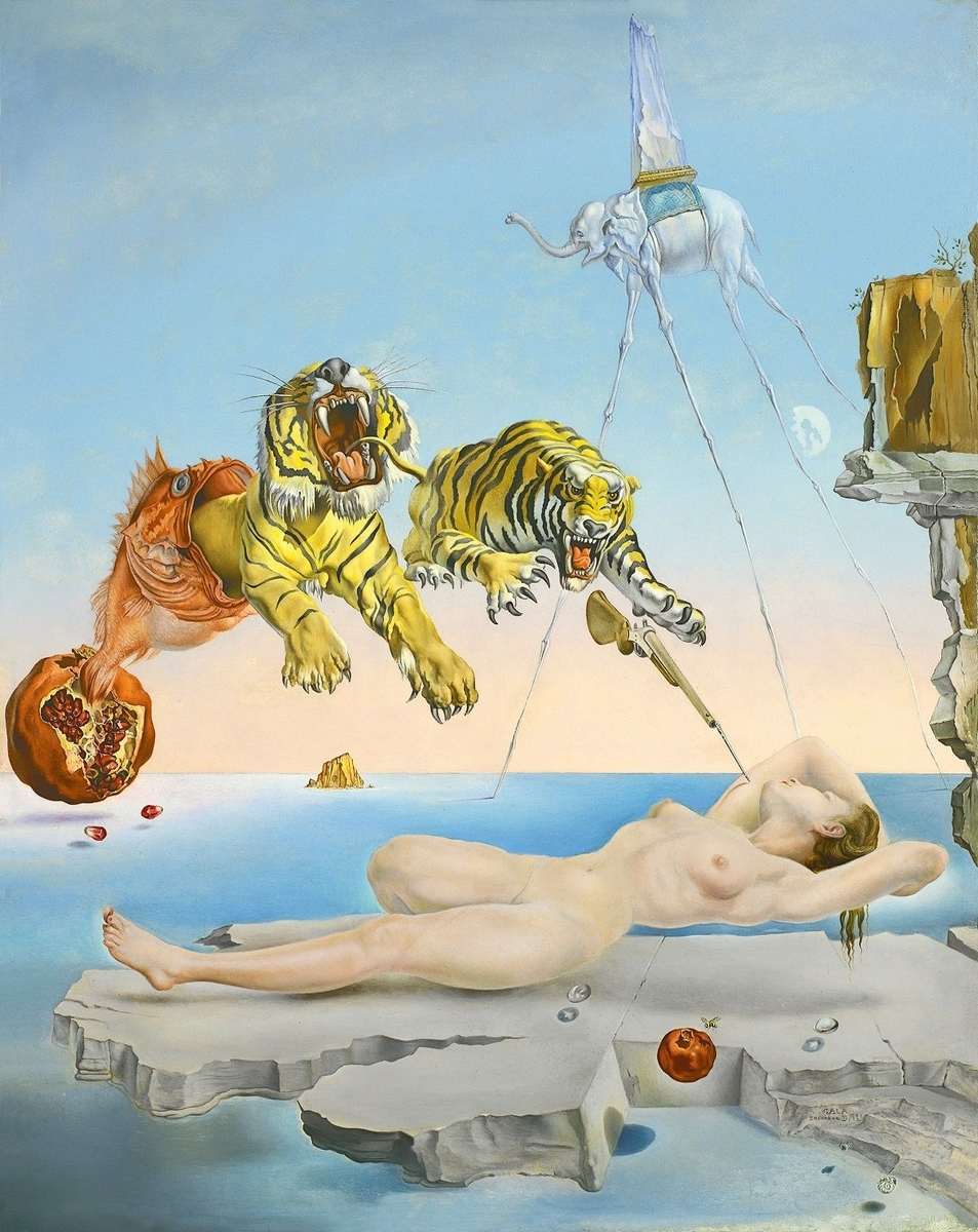 Museo de Arte Thyssen-Bornemisza Dream Caused by the Flight of a Bee around a Pomegranate a Second before Waking 1944