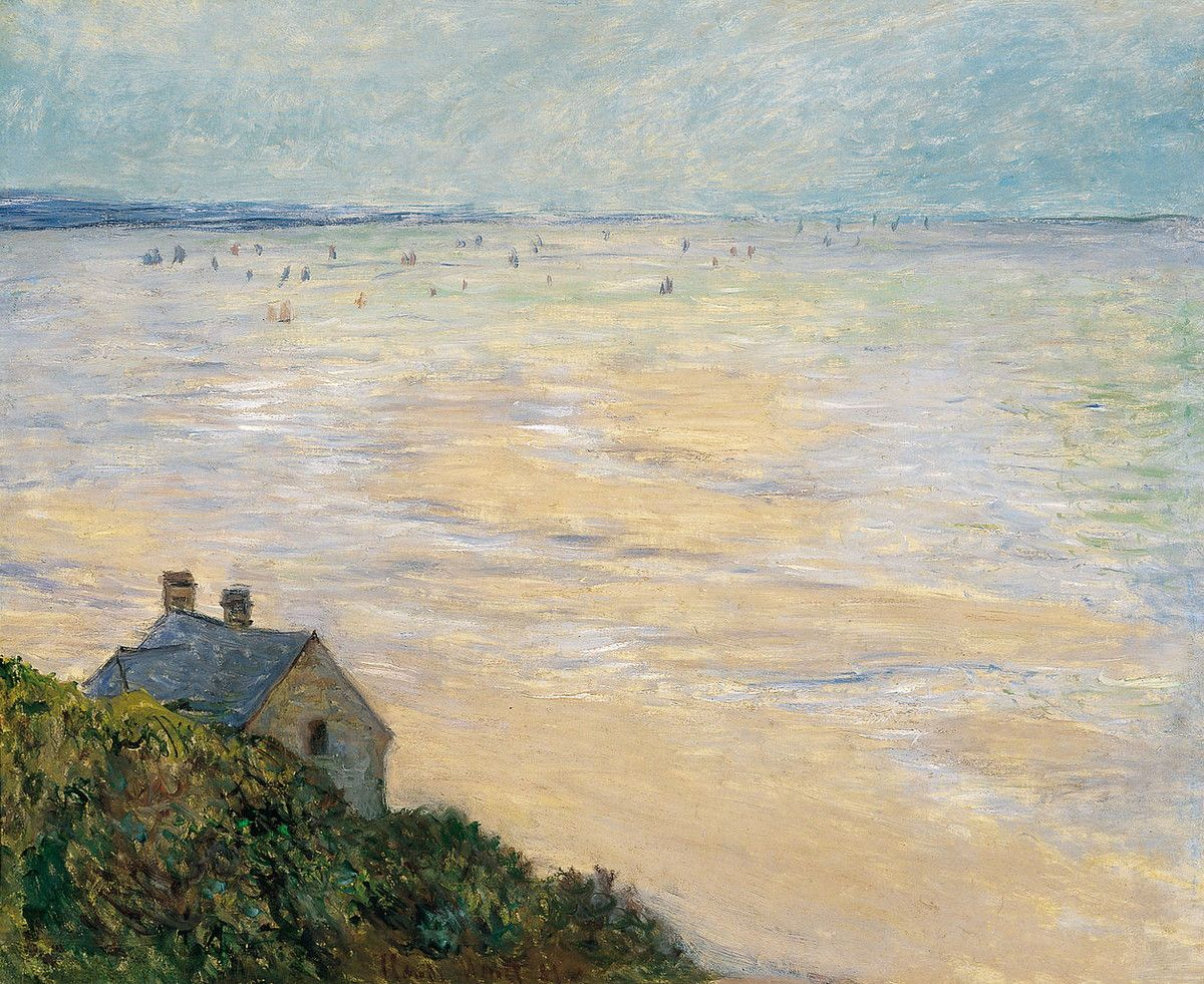 Museo de Arte Thyssen-Bornemisza The Hut in Trouville, Low Tide 1881