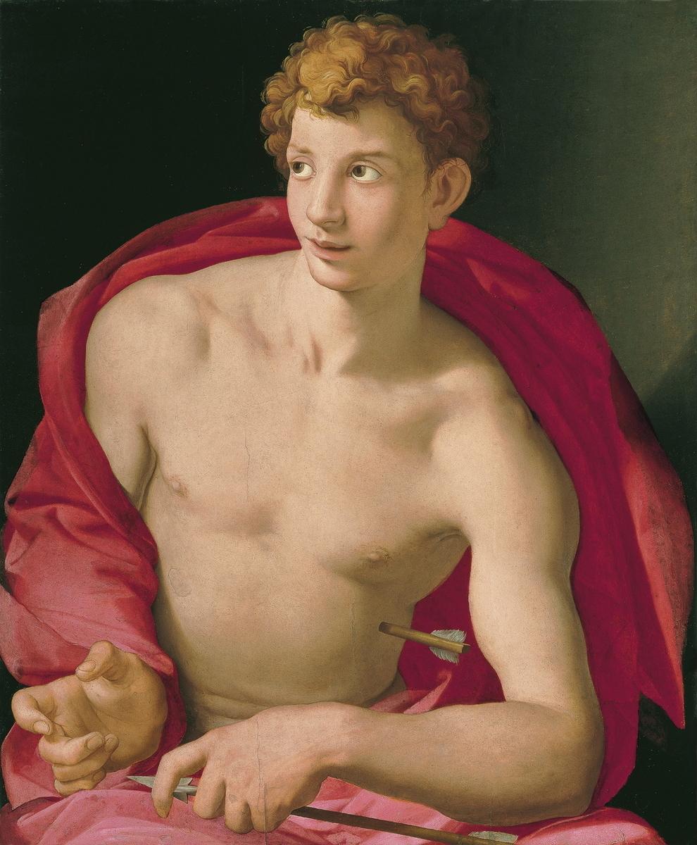 Museo de Arte Thyssen-Bornemisza Portrait of a young Man as Saint Sebastian circa 1533